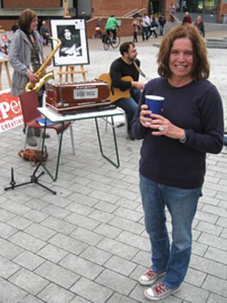 Sheila Ravenscroft (right), widow of former BBC Radio 1 DJ John Peel, in Norwich for John Peel Day 2011