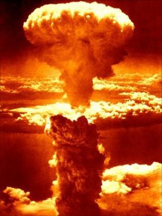 A-bomb blast at Nagasaki, 1945