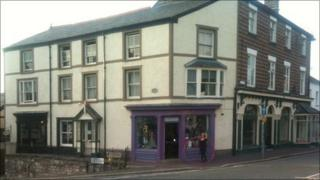 Shop fronts in Ruthin