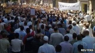 Anti-Bashar protest in Homs. File photo