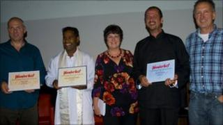 Noel Bruno Dawsan (second from left) with other award winners