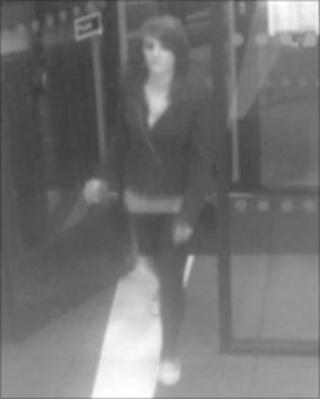 CCTV image taken of a woman Gloucestershire Police would like to speak to