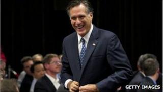 Mitt Romney in Redmond, Washington, 13 October 2011