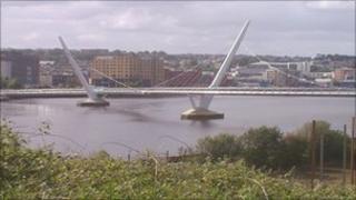 The Peace Bridge in Derry