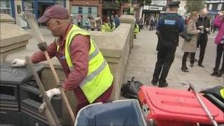Clean-up operaton in Wigan