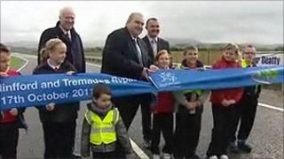 The ribbon-cutting ceremony as the bypass opens