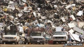 A scrap yard in Chicago