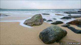 Beach on Harris. Pic: Copyright of Iain Maclean