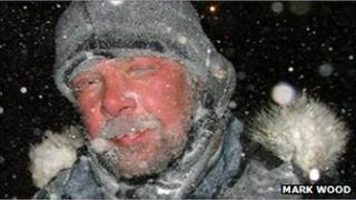 Mark Wood on an arctic expedition