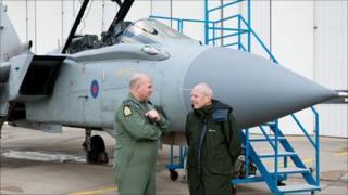 Wing Cdr Jonny Moreton and Eric Bucklow