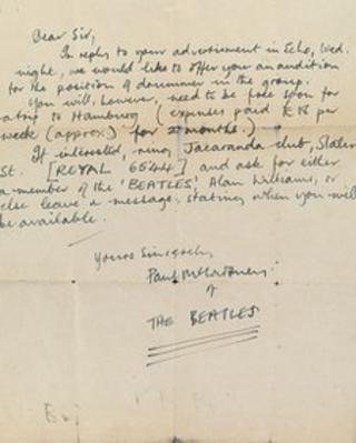 Paul McCartney letter from 1960