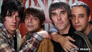 The Stone Roses (l-r: John Squire, Mani, Ian Brown, Reni)