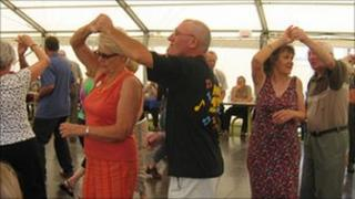 Dancing at a previous Bude Jazz Festival