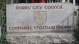 Derry City Council sign