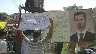 Demonstration against President Assad