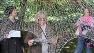 Cobweb at Jupiter Artland before it was damaged