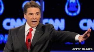 Rick Perry at a CNN debate, 18 October 2011