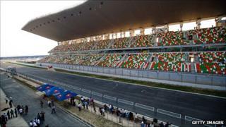 The new F1 track near Delhi