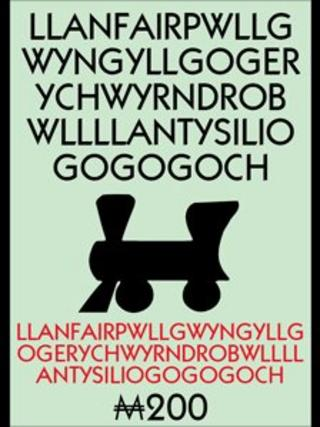 Llanfair PG square on Anglesey Monopoly board