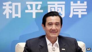 Taiwan's President Ma Ying-jeou attends a news conference in Taipei, 17 October 2011