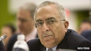 Palestinian Prime Minister Salam Fayyad at the UN, 18 September 2011