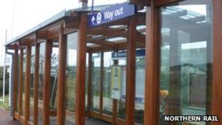 New shelters have been installed in Maryport