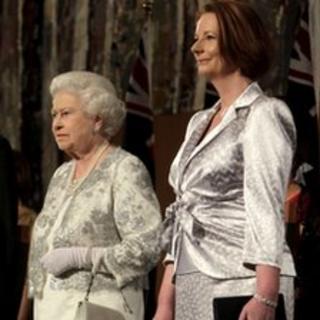 The Queen with Australian Prime Minister Julia Gillard