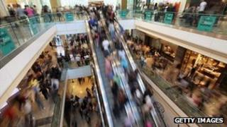 Shoppers at Westfield shopping centre