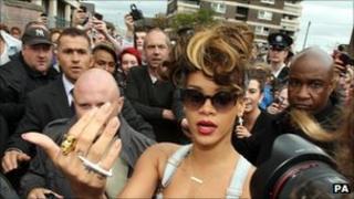Rihanna in Belfast