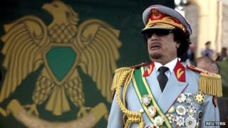 Libya's leader Muammar Gaddafi attends a celebration of the 40th anniversary of his coming to power at the Green Square in Tripoli in this September 1, 2009 file photo