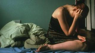Picture of a depressed woman
