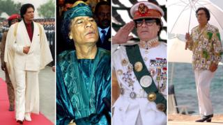 Images of Gaddafi over the years