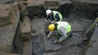 10th C cellar being excavated at Hungate, York. Picture: York Archaeological Trust