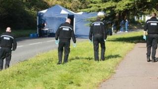 Police at the scene in Hassocks