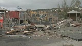 Remains of Tamalder Childcare Centre in Whitehaven