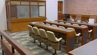 Wrexham court room
