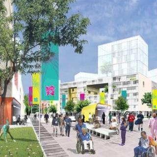 Artist's impression of Olympic Village