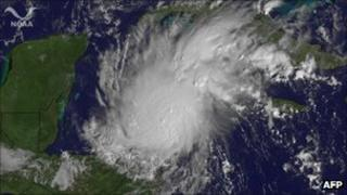 Satellite image of Hurricane Rina