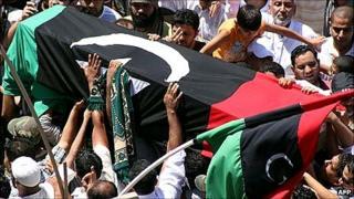Libyan funeral