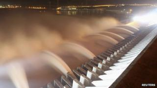 Water from Three Gorges Dam