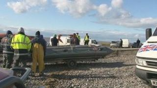 Cocklers were rescued in the Ribble Estuary on Monday