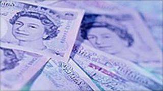 Twenty-pound notes