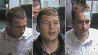 CCTV images of men