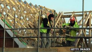 Generic pic of builders on site
