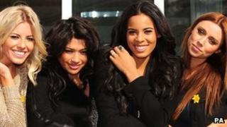 Mollie, Vanessa, Rochelle and Una from the Saturdays