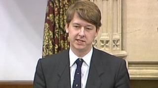 MP Robin Walker in Westminster Hall