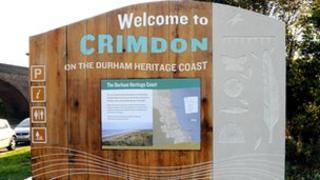 Crimdon welcome sign. Photo: Durham Heritage Coast