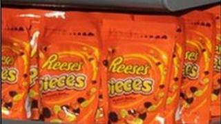 Bags of Reese's Pieces