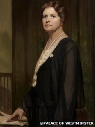 Llun o Margaret Haig Thomas, Is-iarlles Rhondda ©Palas Westminster