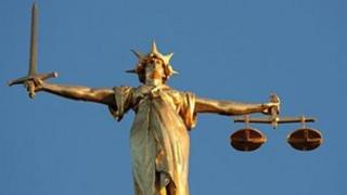 Lady Justice, at the top of the dome of the Central Criminal Court, London